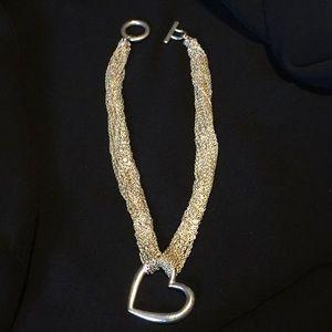 Jewelry - Silver tone multi strand necklace
